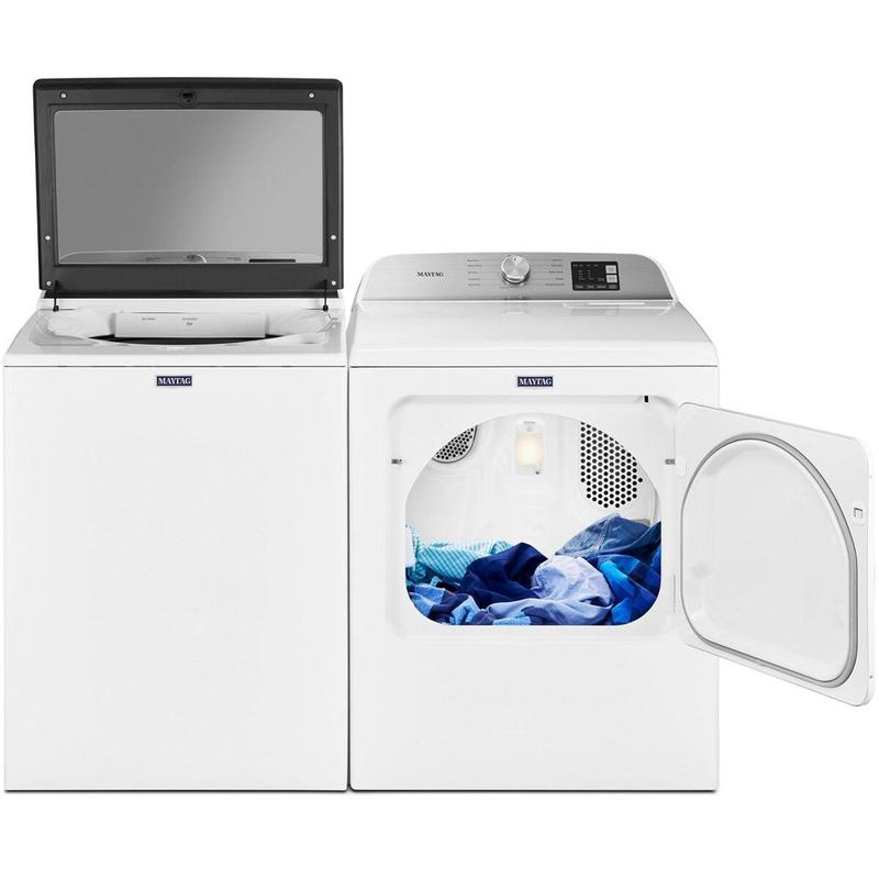 View Product - Maytag Top Load Washer with Deep Fill - 4.8 cu. ft. & Top Load Electric Dryer with Moisture Sensing - 7.0 cu. ft.