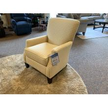Yellow Houndstooth Upholstered Accent Chair