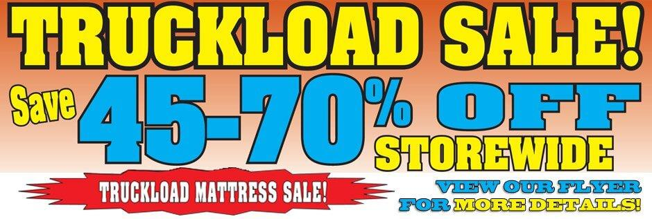 truckload sale, storewide sale
