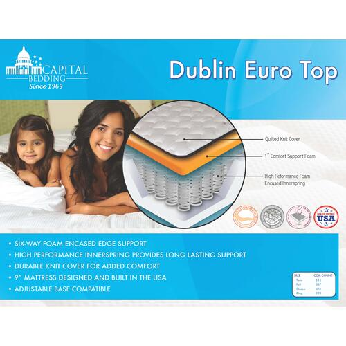 Dublin  Euro Top Mattress