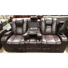 See Details - HIGHLANDER POWER HEAD REST/RECLINING SOFA WITH DROP DOWN CONSOLE