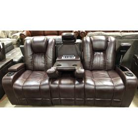 HIGHLANDER POWER HEAD REST/RECLINING SOFA WITH DROP DOWN CONSOLE