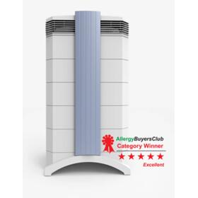 Advanced air cleaning device for the control of a wide range of gaseous compounds, odors and particulates.