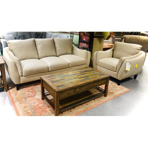 Luke Leather - Leather Molly Sofa in Taupe      (MOLLY-S-232,29116)