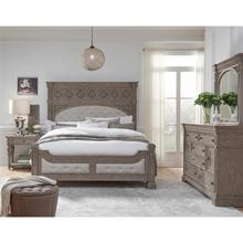 Kingsbury Queen Bedroom Set: Queen Bed, Nightstand, Dresser & Mirror
