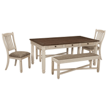 Bolanburg - Antique White - 5 Pc. - Rectangular Table, 2 Upholstered Side Chairs & 2 Upholstered Benches
