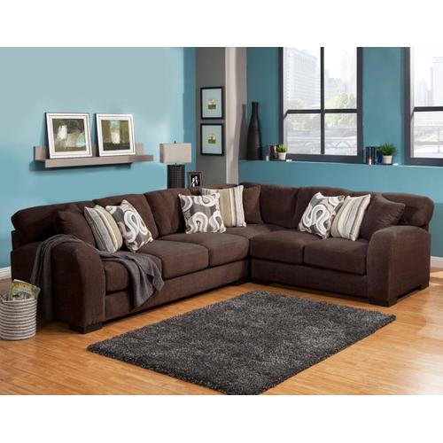 Gallery - Wesley 3Pc Sectional - Chocolate