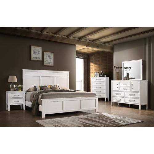 Andover White Dresser by New Classic, Model 677