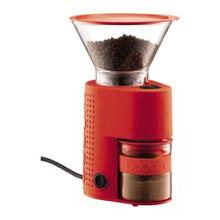 Bistro Electric Burr Coffee Grinder Red