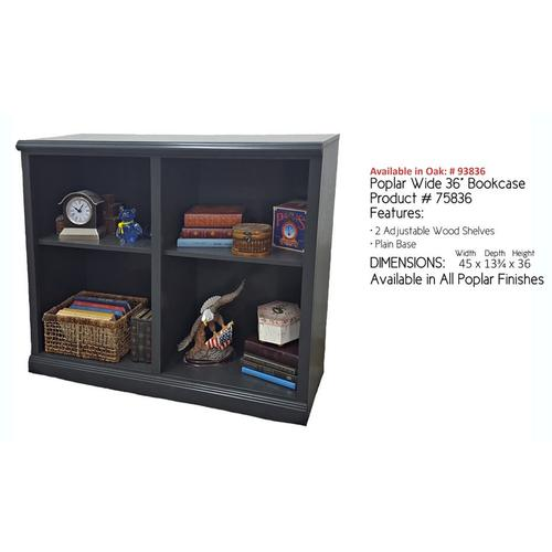 "Poplar 36"" Wide Bookcase"