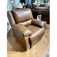 See Details - Ritz Whiskey Leather Power Recliner