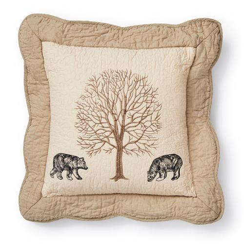 "Bear Creek ""Bear"" Throw Pillow"