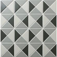 Chino Hill Kaleidoscope 2 Triangle G-Tile Mosaic Wall Niche