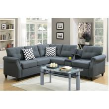 Marybel - Sectional - Blue Gray