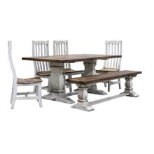 Table, 4 Chairs, & Bench Set