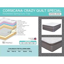 "Crazy Quilt 15"" - Euro Top - Medium"