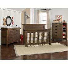 Lucca Full Panel Crib Weathered Brown
