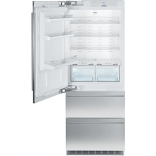 OPEN BOX - Liebherr Fully Integrated Bottom Freezer Refrigerator with 14.1 cu. ft. Capacity, 3 Glass Shelves, Left Hinge Door, 30 inch