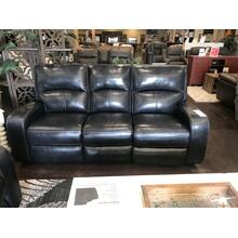 Black leather Power Reclining Sofa