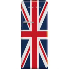 Smeg 50's Retro Style Freestanding Refrigerator With Freezer Compartiment, 24-Inch Wide, Union Jack, Right Hinge.