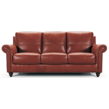 See Details - Leather Sofa in Burgundy Leather Color *Matching Loveseat also Available*