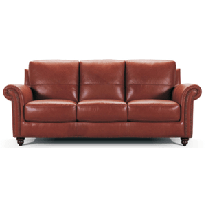 Violino Leather Furniture - Leather Sofa in Burgundy Leather Color *Matching Loveseat also Available*