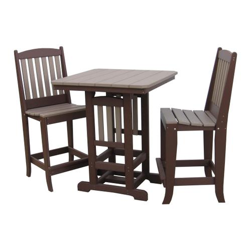 """33"""" Square Table W/2 Counter Height Chairs"""