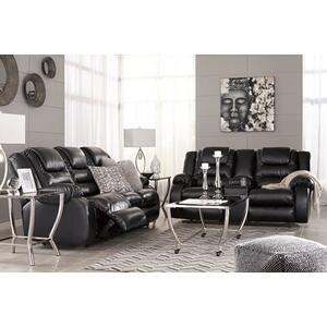 Vacherie- Black Reclining Sofa and Loveseat