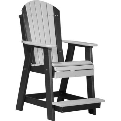 Adirondack Balcony Chair Dove Gray and Black