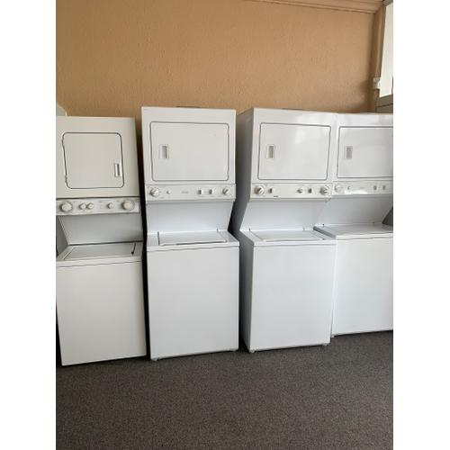 """Product Image - REFURBISHED 24"""" and 27"""" Washer Dryer Stack Set. (manufacturer and models change daily, please call or visit our store to confirm what is currently available). Prices vary based on condition, age, model, and features"""