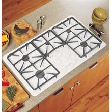 "CLOSEOUT SPECIAL!  36"" Gas Cooktop with 5 Sealed Burners - New & Unused Out of Box - Slight Blemish (Dent on back side) - JGP963WEKWW  SN#LL714867Q"