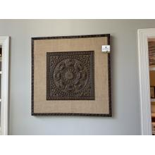 Burlap and Iron Wall Art