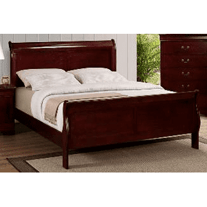 Louis Philip Cherry King Bed