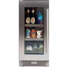 "Beverage Center 15"" SS Glass LH"