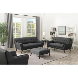 Binetti Sofa and Loveseat Set Charcoal