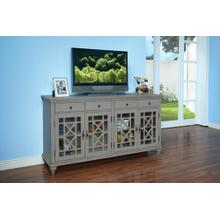 Marceline 4-Drawer, 4-Door Chest in Vintage Grey Finish