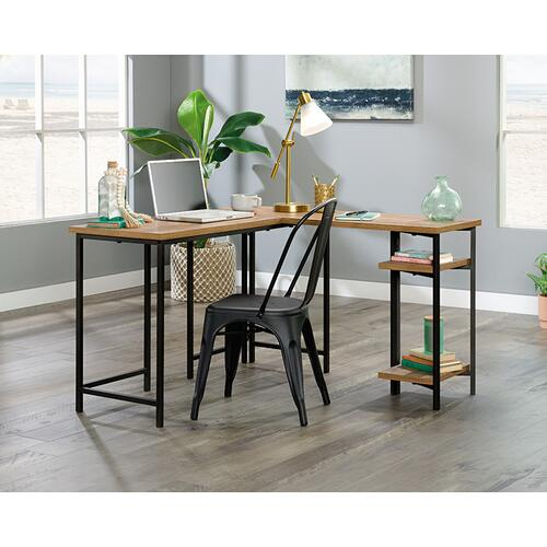 Modern L-Shaped Desk with Storage