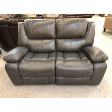 POWER LEATHER RECLINING LOVESEAT