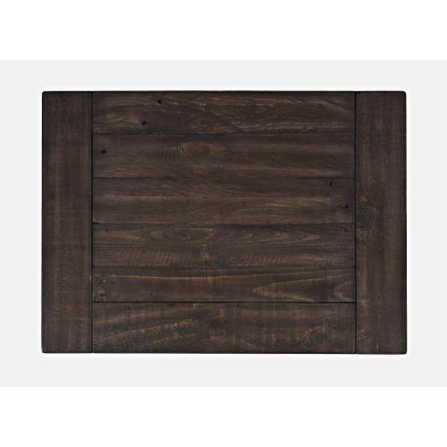 Jofran - Madison County 4 PC King Barn Door Bedroom: Bed, Dresser, Mirror, Nightstand - Vintage Black