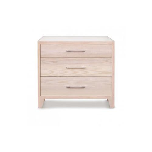 CONTOUR 3 DRAWER IN ASH NIGHTSTAND