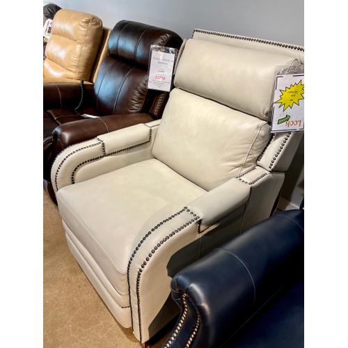 Barcalounger - Leather Power Recliner in Wenlock Dove