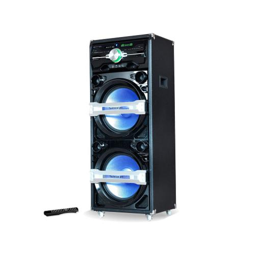 """XTIGER Professional Dual 15"""" Woofer Entertainment Center with Bluetooth"""
