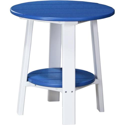 Deluxe End Table Blue and White