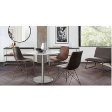 View Product - Lilly Dining Chair - Grey Velvet