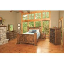 Rustic Indian Queen Bedroom Set