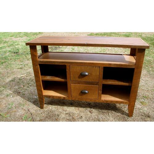 Locally Made Barnwood Cabinet With Center Drawers