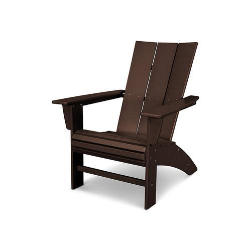 Vintage Coffee Modern Curveback Adirondack Chair