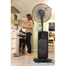 See Details - SUNHEAT SUNHEAT CoolZone 18 in. 9 speed Electric Oscillating Misting Fan - Case