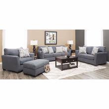 7058 Pacific Blue Steel Sofa and Loveseat