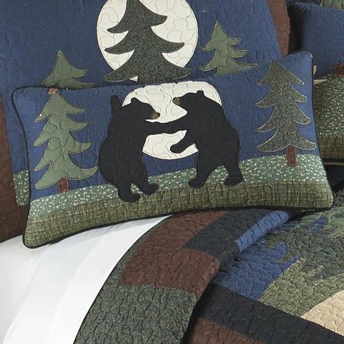 "Bear Dance ""Rectangle"" Throw Pillow"